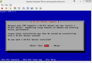 Kernel Options (Sophos UTM on ESXI 5.5)