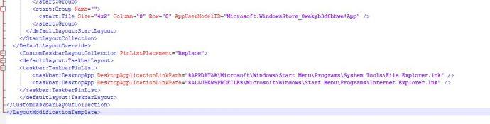 CustomTaskbarLayoutCollection настройка закрепленных ярлыков в таскбаре через xml файл